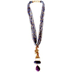 Tanzanite Gold Necklace