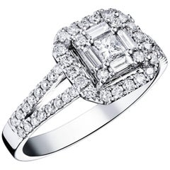 Clarence Square Diamond Ring