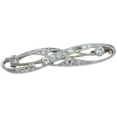 Brooch, Art Deco, White Gold, Diamond