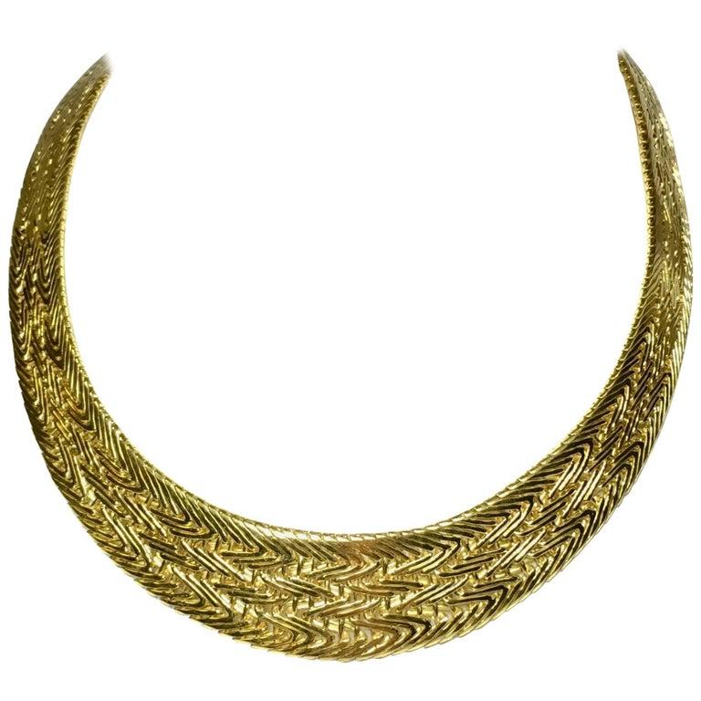 Necklace White Yellow 18 carat Gold Italian Design