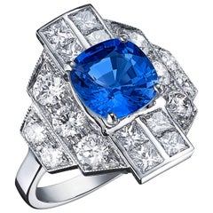 Ludmilla Sapphire and Diamond Ring