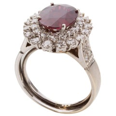 Ruby Diamond Double Halo Ring