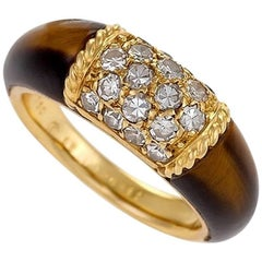 Van Cleef & Arpels Diamond and Tiger Eye 'Philippine' Ring