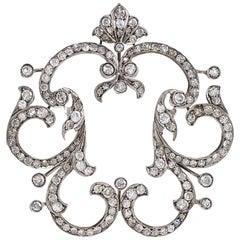 Late Victorian Diamond Gold and Silver Pendant