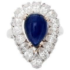 18 Karat Platinum Sapphire and Diamond Ring