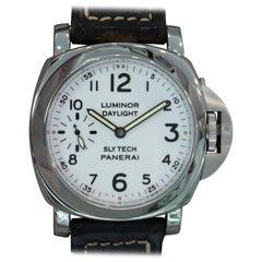 Panerai Stainless Steel Luminor Slytech Daylight Mechanical Wristwatch