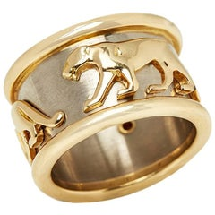 Cartier 18 Karat Yellow & White Gold Panthère Band Ring