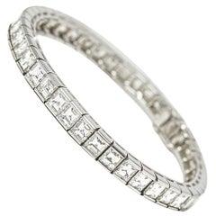 Cartier Platinum Diamond Tennis Bracelet