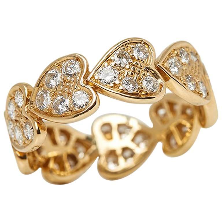 Cartier Diamond Yellow Gold Heart Ring