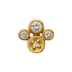 Gold White Diamond Earring