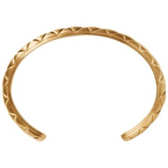 Gold White Diamond Bangle Bracelet