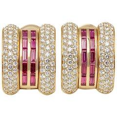 Chopard Ruby Diamond La Strada Earrings