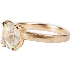 3.19 Carat Rough White Diamond Engagement Ring