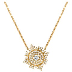 Nadine Aysoy Petite Tsarina 18 Karat Yellow Gold and Diamond Necklace