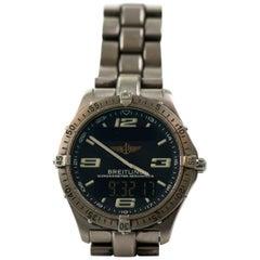 Breitling Titanium Professional Aerospace Evo Quartz Wristwatch, circa 1990s