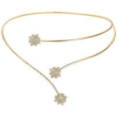 Nadine Aysoy Petite Tsarina 18 Karat Yellow Gold and Diamond Choker Necklace
