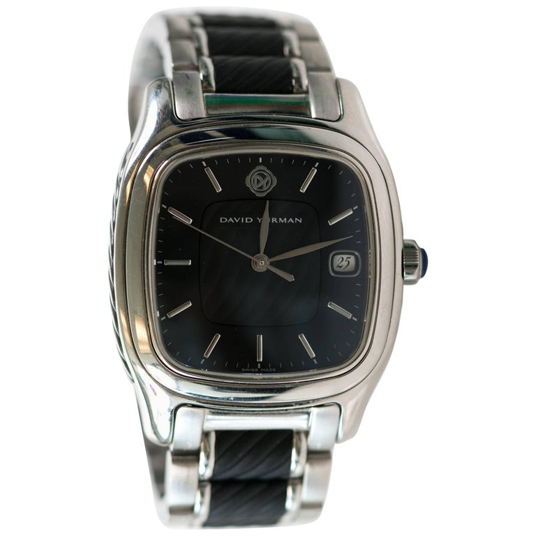 David Yurman Stainless Steel Thoroughbred automatic Wristwatch, Ref T301-LST