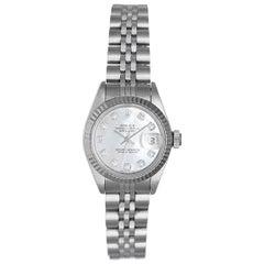 Rolex Ladies Diamond Mother-of-Pearl Datejust automatic Wristwatch Ref 79174