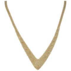 Tiffany & Co. Mesh Drop Necklace