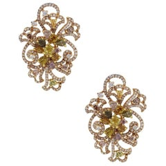 EGL Certified Fancy Colored Diamond Earrings