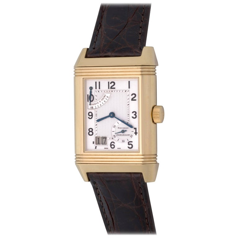 Jaeger-LeCoultre Yellow Gold Reverso Manual Wind Wristwatch