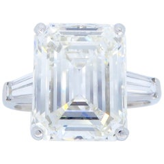 6.81 Carat Emerald Cut Diamond Ring