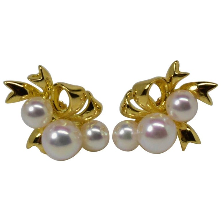 jewelry pea w akoya cultured mikimoto pearl diamond earrings