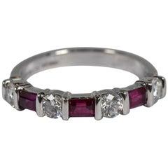 Tiffany & Co. Ruby and Diamond Platinum Ring