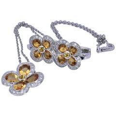 Mappin & Webb Citron and Diamond Set