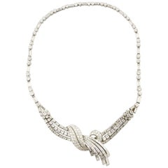Precious Platinum Necklace Enrich with Carat 21.10 Diamonds