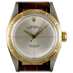 Rolex Zephyr Oyster Perpetual Vintage Steel & Gold Quadrant 6582 Automatic Watch