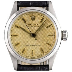 Rolex Oyster Royal Shock Resisting Steel Honeycomb Dial Manual Wind Wristwatch