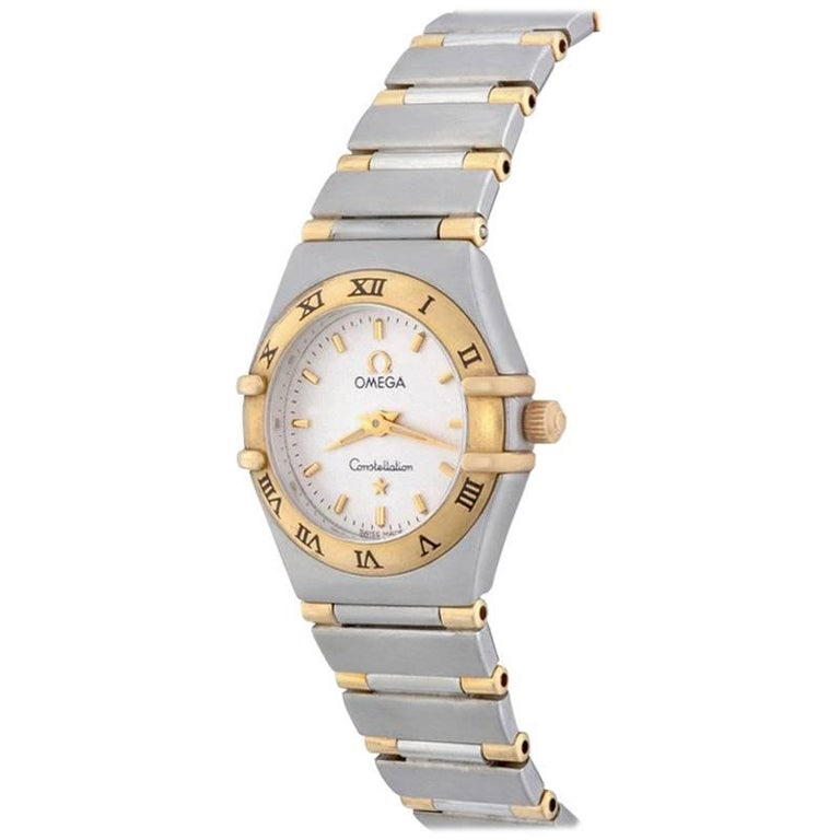 Omega Ladies Yellow Gold Stainless Steel Constellation Quartz Wristwatch
