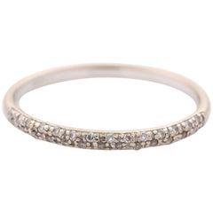 0.15 Carat Diamond 18 Karat White Gold Halfway Eternity Band