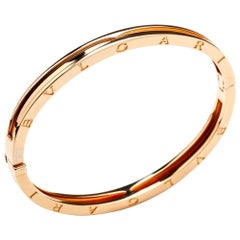 Bulgari Bvlgari B.zero1 Bangle Bracelet 18 Karat Gold Size Medium BR857482