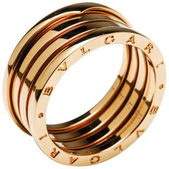 Bulgari Bvlgari B.Zero1 Men's Ring Flex 18 Karat Yellow Gold