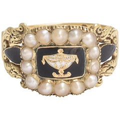 Regency Mourning Ring for the Right Honourable John Lord Henniker
