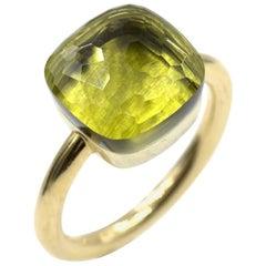 Pomellato Nudo Lemon Quartz 18 Karat Yellow Gold Ring