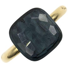 Pomellato Nudo Blue Topaz 18 Karat Yellow Gold Ring