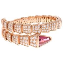 Bulgari Serpenti Tourmaline Diamond Gold Bracelet