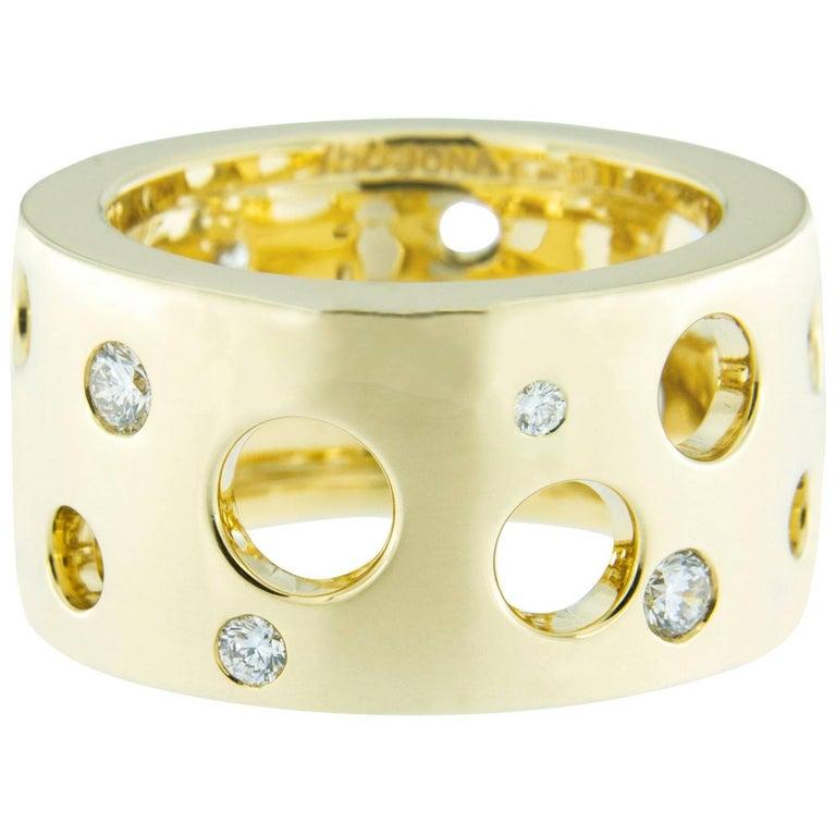 Jona Diamond Yellow Gold Band Ring