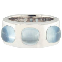 Jona Aquamarine White Gold Band Ring