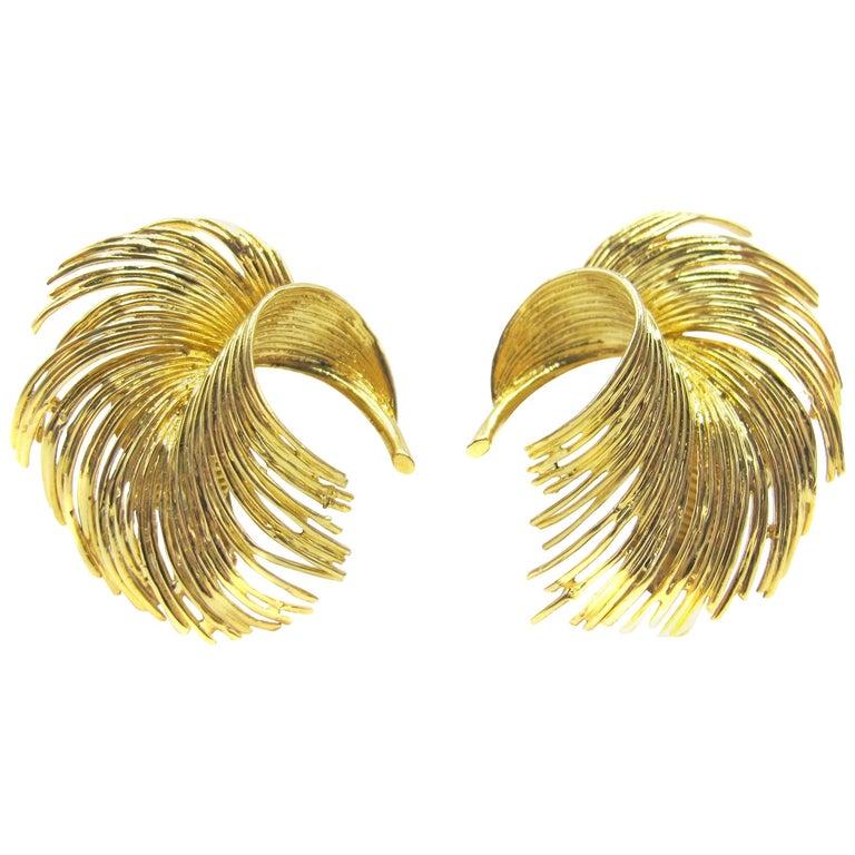 Tiffany & Co. 1960s Gold Ear Clips