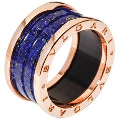 Bulgari Bvlgari B.Zero1 Ring 18 Karat Rose Gold and Lapis Lazuli