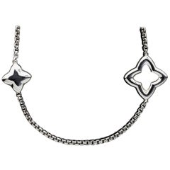 David Yurman Quatrefoil Sterling Silver Chain Necklace