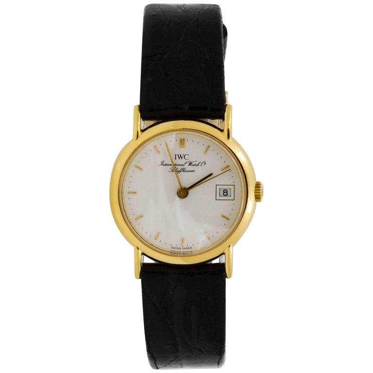 IWC Schaffhausen Ladies yellow gold quartz Wristwatch