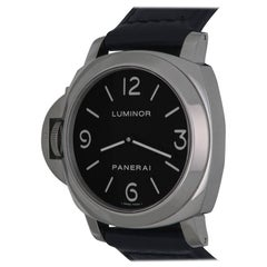 Panerai Stainless Steel Luminor Base Ltd Ed Manual Wind Wristwatch Ref PAM00219