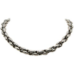 Hermes 1960s Silver Thick Chain Necklace