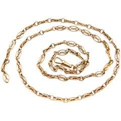 French Antique 18 Karat Yellow Gold Long Chain