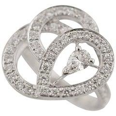 Boucheron Diamond 18 Karat White Gold Ava Ring